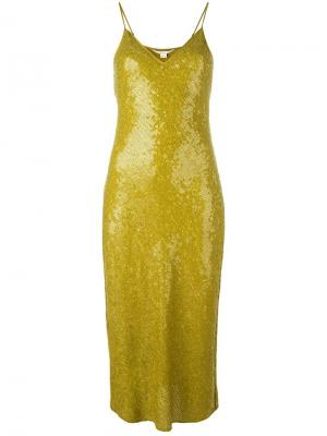 Приталенное платье с пайетками Dvf Diane Von Furstenberg. Цвет: зелёный