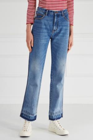Однотонные джинсы Marc Jacobs. Цвет: голубой