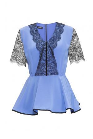 Блуза из шелка 161403 Iya Yots. Цвет: синий