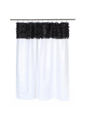 Шторка для ванной Jasmine White/Black CARNATION. Цвет: белый, черный