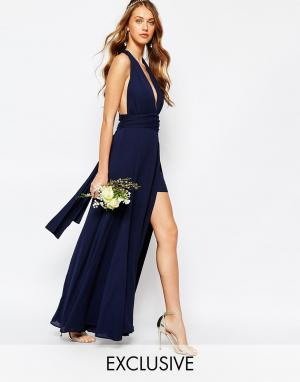 Fame and Partners Платье-трансформер Ainsley. Цвет: темно-синий