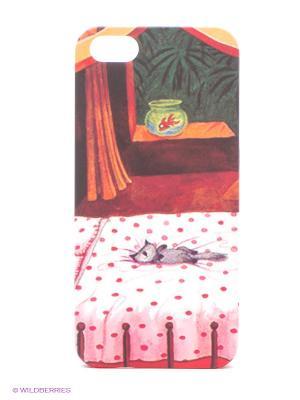Чехол IPhone 5 KAFKAFIVE-40 Mitya Veselkov. Цвет: красный, желтый, синий