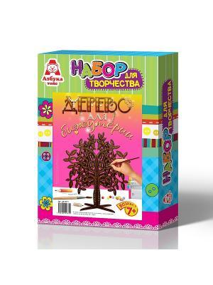 Дерево для бижутерии с листочками Азбука Тойс. Цвет: зеленый, голубой