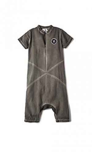Divided woven overalls Nununu. Цвет: серый