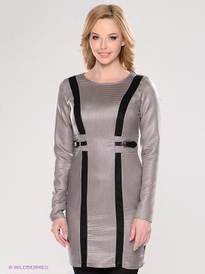 Платье TOPSANDTOPS. Цвет: серый, черный
