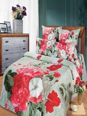 Комплект постельного белья из тк.Сатин в упаковке книжка Диана Арт Постель. Цвет: белый, розовый, серый