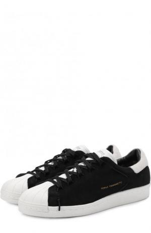Замшевые кеды Super Knot на шнуровке Y-3. Цвет: черный