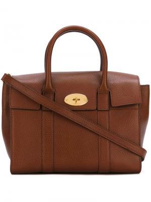 Маленькая сумка Bayswater Mulberry. Цвет: коричневый