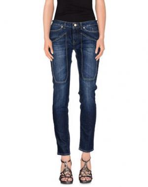 Джинсовые брюки JECKERSON. Цвет: синий