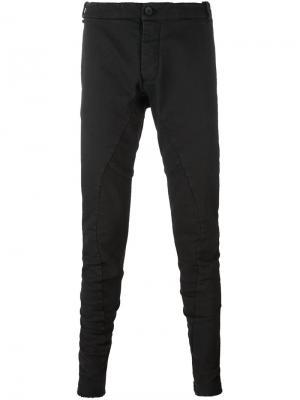 Зауженные брюки кроя слим Masnada. Цвет: чёрный