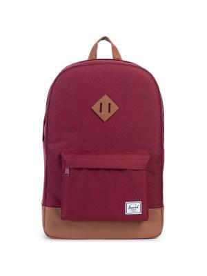 Рюкзак HERITAGE (A/S) Herschel. Цвет: бордовый,светло-коричневый