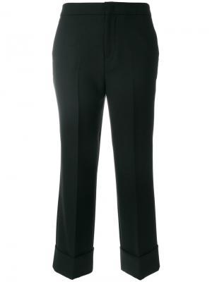 Классические укороченные брюки Pt01. Цвет: чёрный