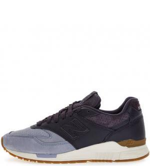 Фиолетовые кроссовки с вкладной стелькой New Balance. Цвет: фиолетовый