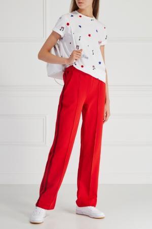 Однотонные брюки Etre Cecile. Цвет: красный