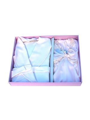 Комплект пеньюар и сорочка р-р 48 La Pastel. Цвет: розовый