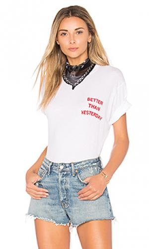 Боди better than yesterday Wildfox Couture. Цвет: белый
