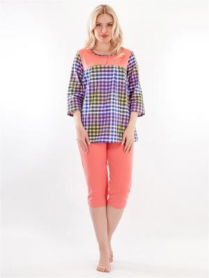 Пижама HELLO MODA!. Цвет: персиковый