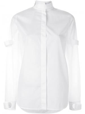 Рубашка с воротником-стойкой Courrèges. Цвет: белый