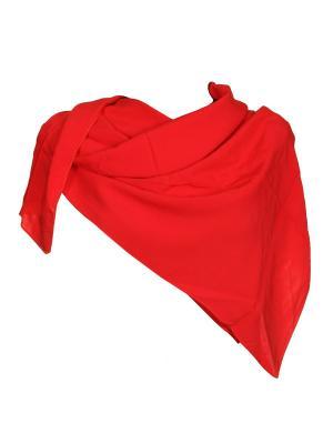 Платок Живой Шелк. Цвет: красный