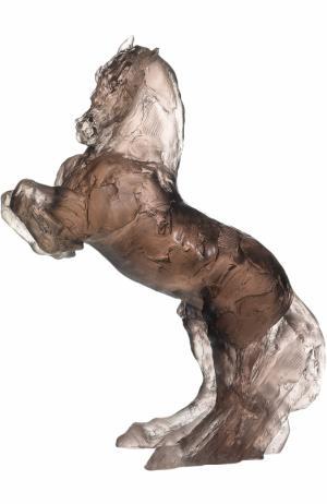 Скульптура Лошадь на дыбах Balthazar Daum. Цвет: серый