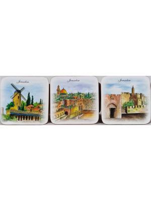 Сувениры религиозные - Подставки для стаканов Bethlehem Star. Цвет: голубой
