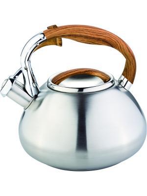 Чайник со свистком 3литра. RAINSTAHL. Цвет: оранжевый