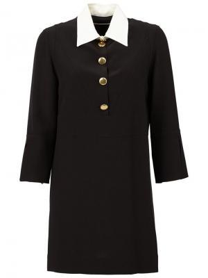 Удлиненная рубашка с контрастным воротником Marni. Цвет: чёрный