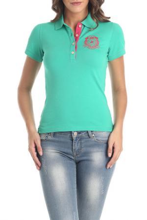 Рубашка-поло Galvanni. Цвет: зеленый