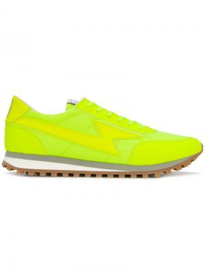 Кроссовки с принтом вспышек молнии Marc Jacobs. Цвет: жёлтый и оранжевый