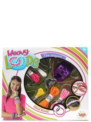 Плетение ободков и браслетов Splash Toys. Цвет: белый, голубой, зеленый, розовый