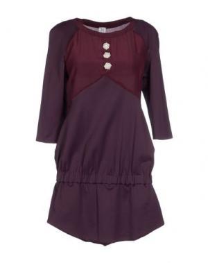 Короткое платье PINKO UNIQUENESS. Цвет: баклажанный