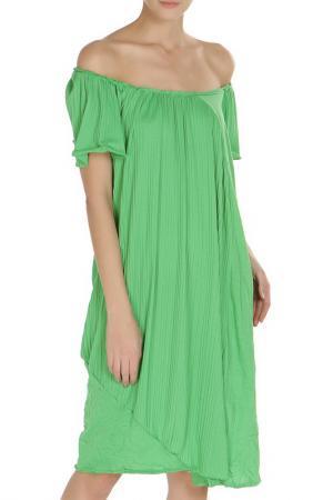 Платье Oblique. Цвет: зеленый