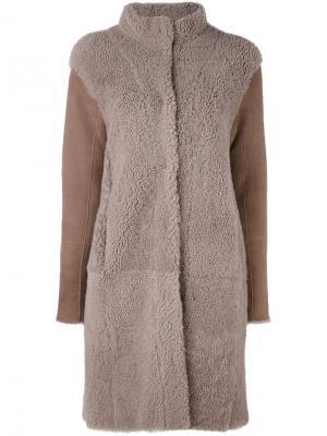 Пальто с высоким воротом Steffen Schraut. Цвет: коричневый