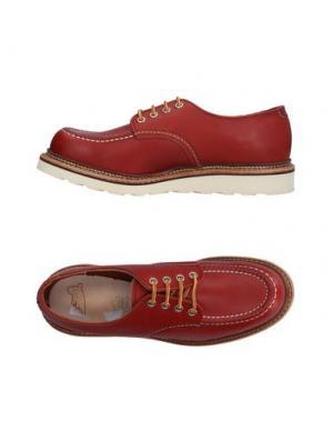 Обувь на шнурках RED WING SHOES. Цвет: кирпично-красный