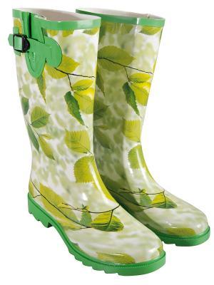 Резиновые сапоги Esschert Design. Цвет: зеленый