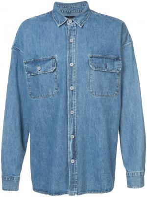 Объемная джинсовая рубашка Fear Of God. Цвет: синий