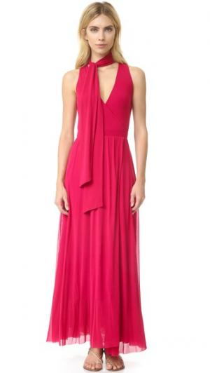 Макси-платье без рукавов Fuzzi. Цвет: porpora