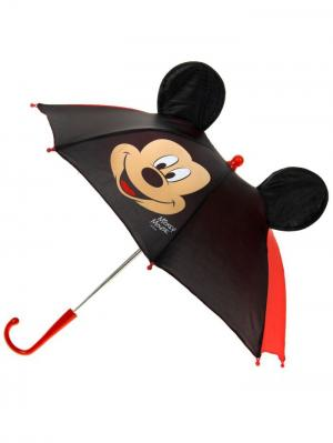 Зонт детский Микки Маус, с ушами Disney. Цвет: черный, красный, персиковый