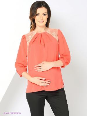 Блуза UNIOSTAR. Цвет: коралловый