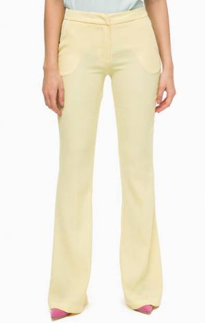 Желтые расклешенные брюки Trussardi Jeans. Цвет: желтый