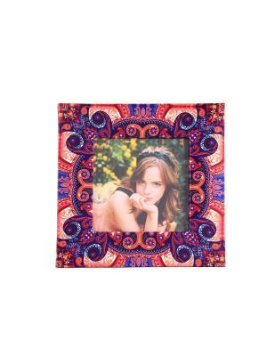 Фоторамка Яркие мгновения для фото 10*10см, 17*17см Русские подарки. Цвет: синий, темно-фиолетовый, коралловый, оранжевый, белый