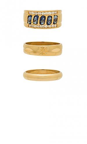 Комплект ring Vanessa Mooney. Цвет: металлический золотой