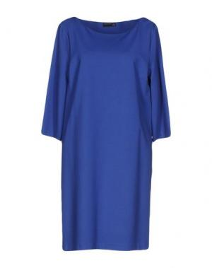 Короткое платье SIMONA MARTINI. Цвет: синий