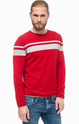 Красный джемпер из хлопка Marc O'Polo. Цвет: красный
