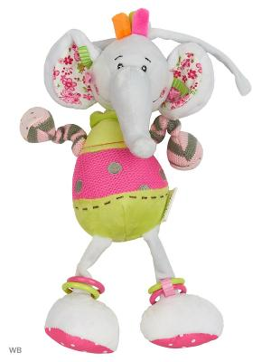 Музыкальная подвеска Слонёнок Тим Жирафики. Цвет: серый, салатовый, розовый
