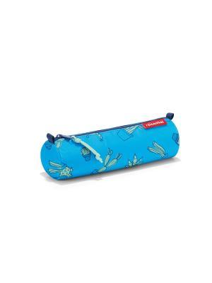 Пенал детский Pencilroll cactus blue Reisenthel. Цвет: голубой