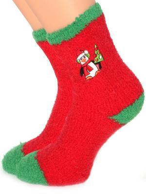 Новогодние носочки в подарочной упаковке HOBBY LINE. Цвет: зеленый, красный