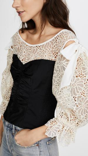 Long Sleeve Malorie Top Rebecca Taylor