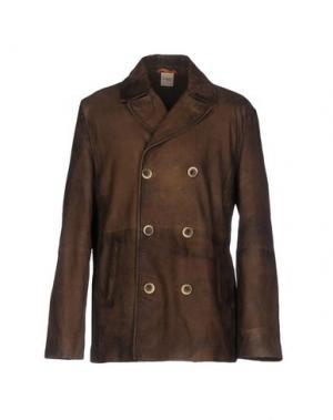 Легкое пальто D'AMICO. Цвет: темно-коричневый