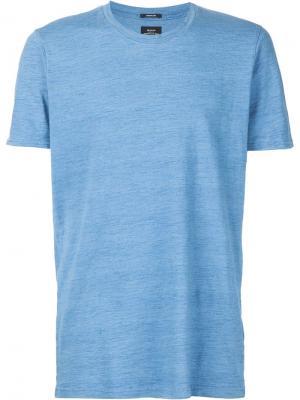 Трикотажная футболка Denham. Цвет: синий